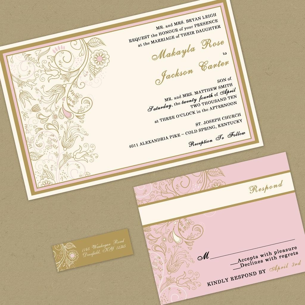 Romantic Wedding Invitation Wording: Romantic Wedding Invitation Wording