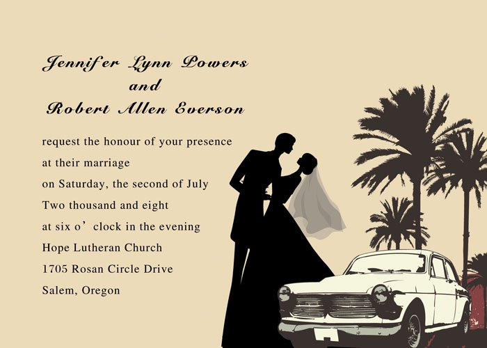 Romantic Wedding Invitation Wording Couple Hosting
