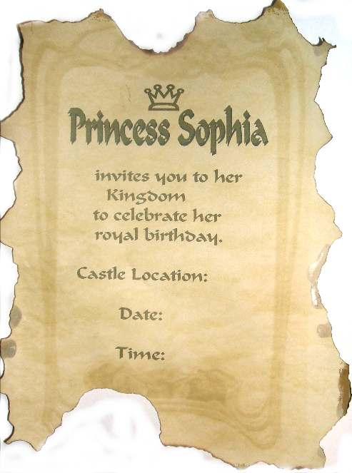 Royal Invitation Wording Party