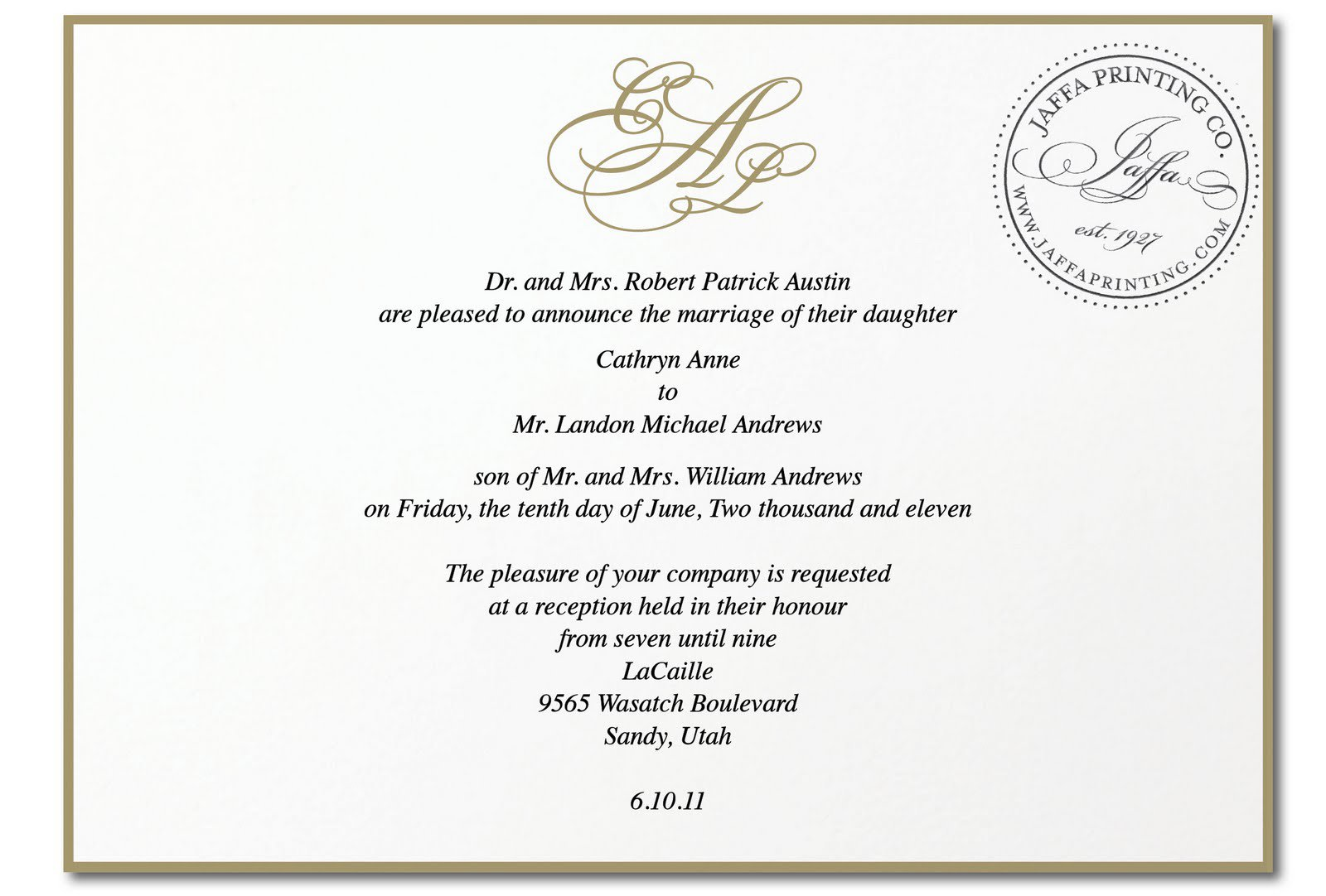 Royal Invitations Example - photo#33