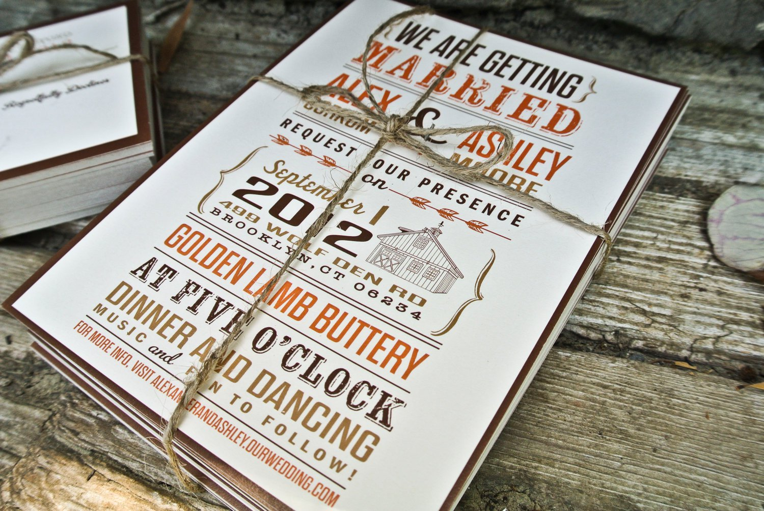 Rustic Barn Wedding Invitations Etsy