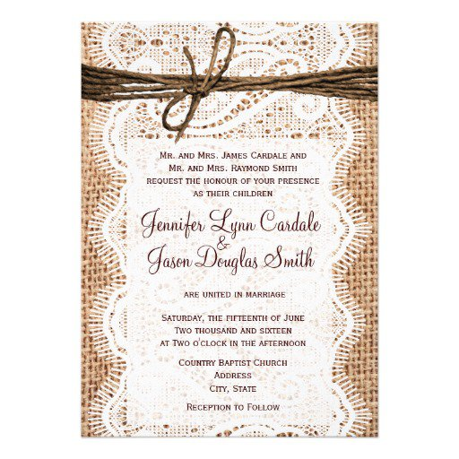 Rustic Bridal Shower Invitations Blank