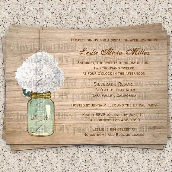 Rustic Bridal Shower Invitations Printable Free