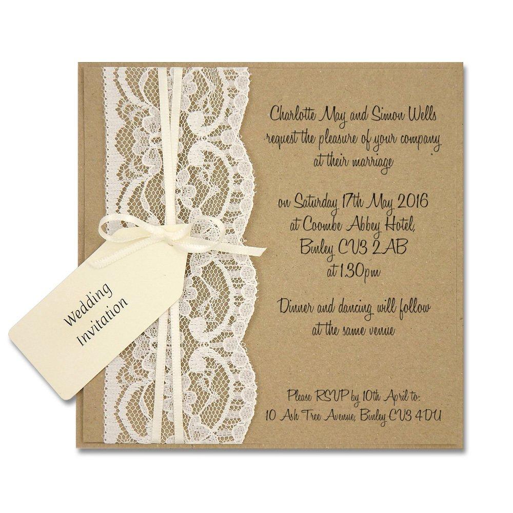 Rustic Chic Wedding Invitations Uk
