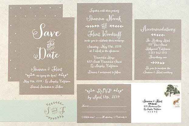 Rustic Country Wedding Invitations Uk