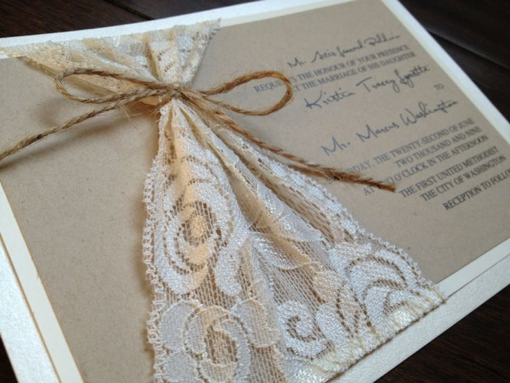 Rustic Handmade Wedding Invitations