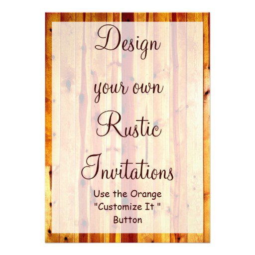 Rustic Invitations Blank Design