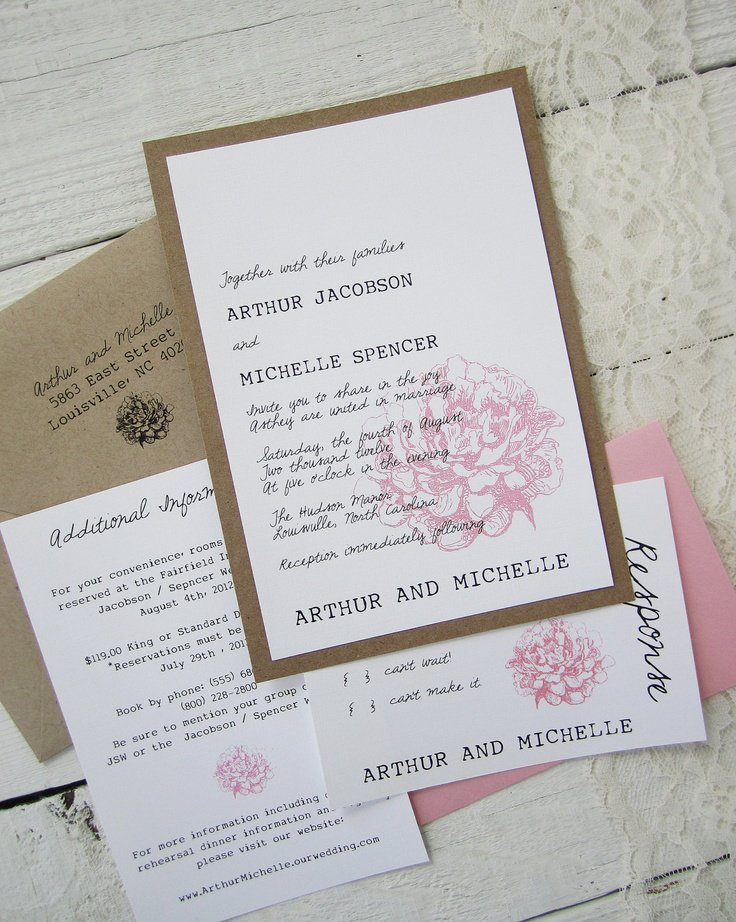 Rustic Nature Wedding Invitations