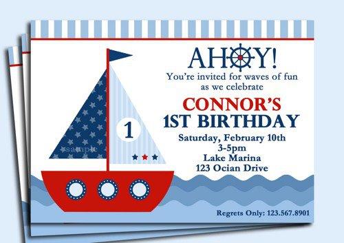 Sailboat Baby Shower Invitation Templates