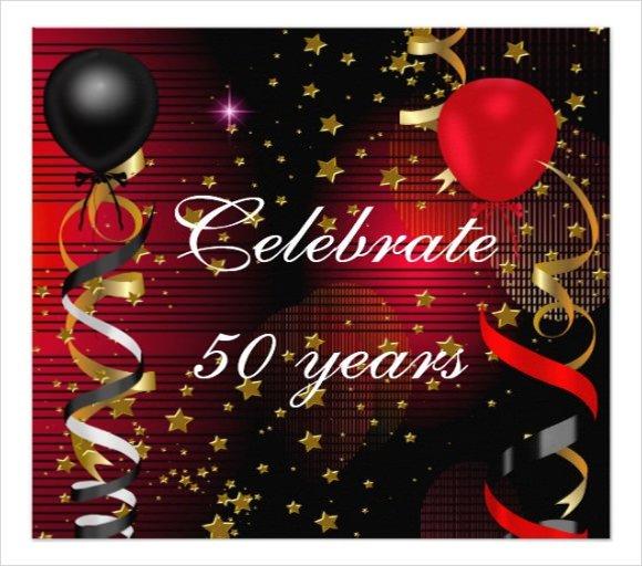 Sample 50th Birthday Invitation Cards
