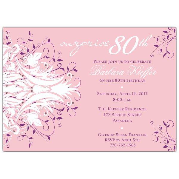 Sample 80th Birthday Party Invitations