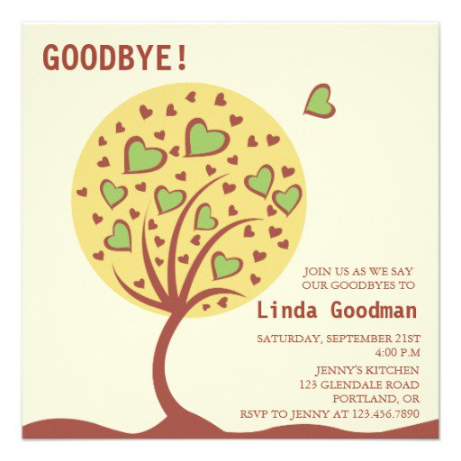 Sample Farewell Party Invitation