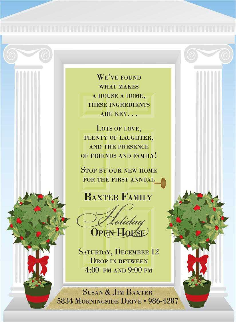 Sample Invitations For Open House