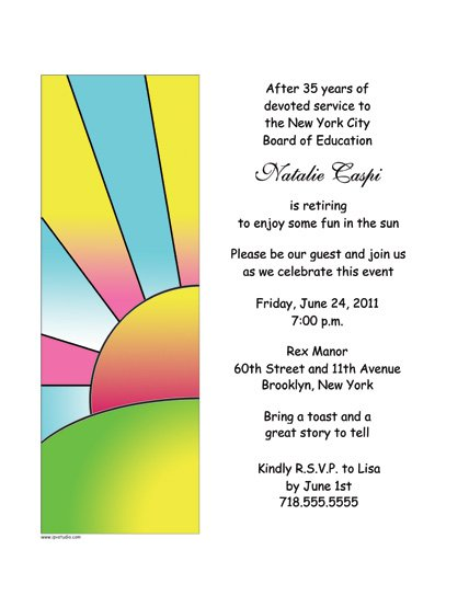 Sample Invitations For Retirement Party