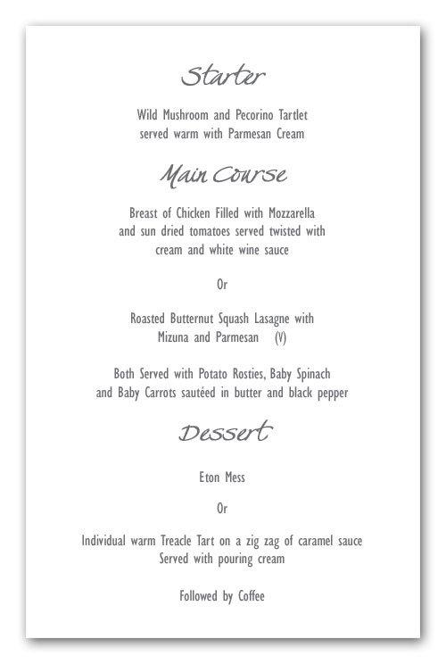 Sample Wedding Invitation Inserts