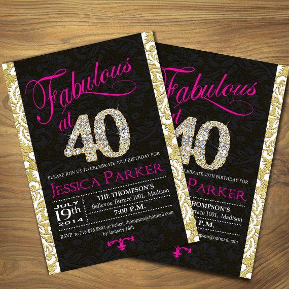 Sassy 50th Birthday Invitations