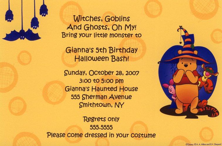 Scary Halloween Party Invitation Ideas – Halloween Birthday Invite Wording