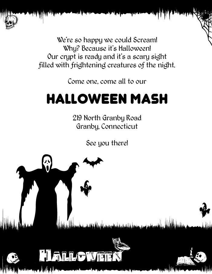 Scary Halloween Invitation Templates Free