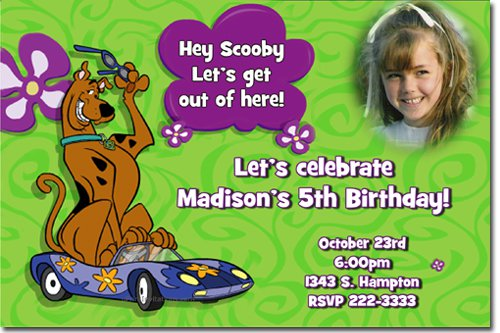 Scooby Doo Birthday Invitations Australia