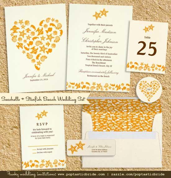 Seashell Invitation Pattern