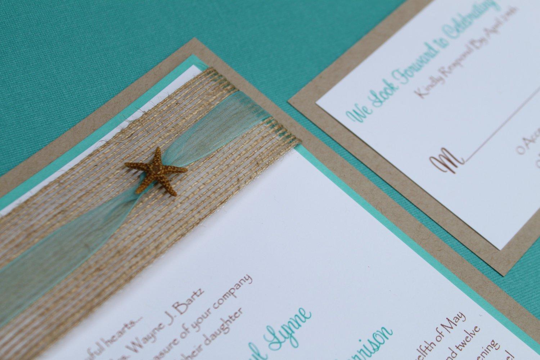 Seaside Wedding Invitation Templates