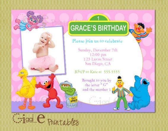 Sesame Street Birthday Invitations Walmart