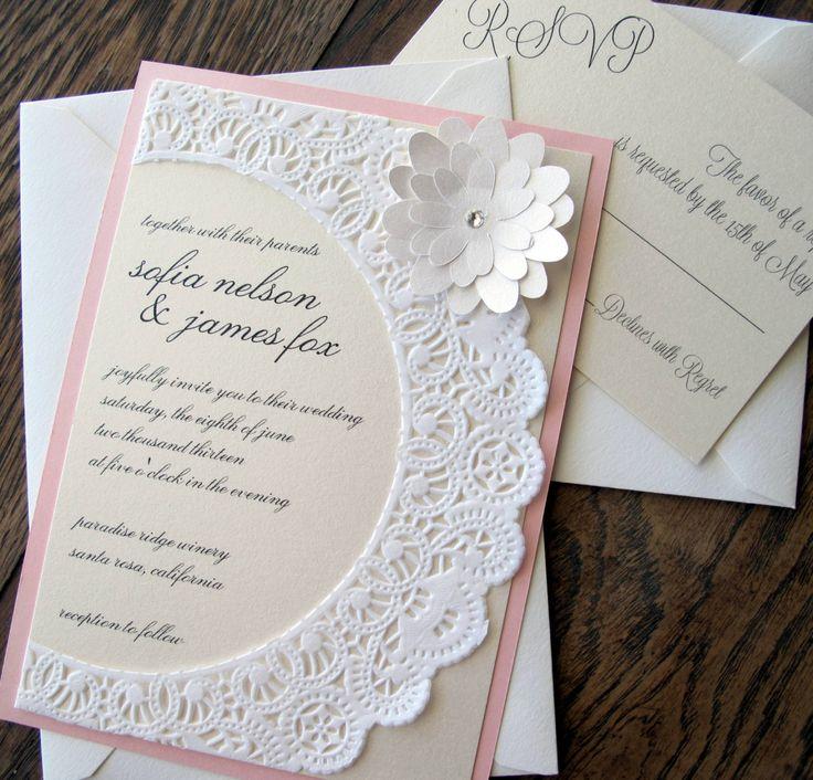 Shabby Chic Wedding Invitation Ideas
