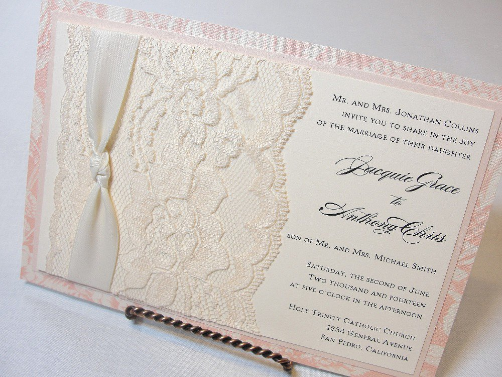 Shabby Chic Wedding Invitations Diy
