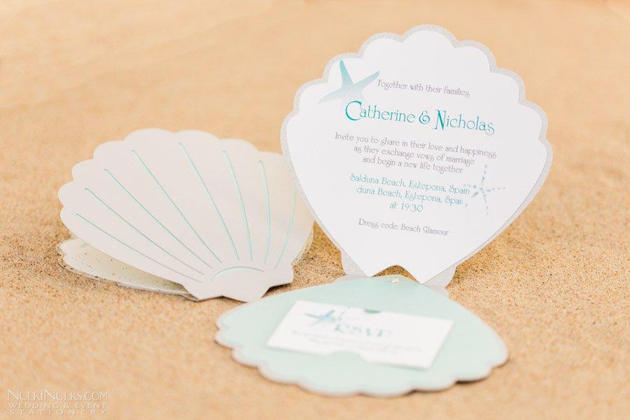 Shell Wedding Invitations Uk
