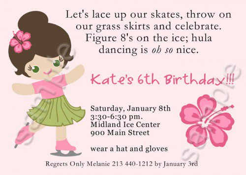 Skating Birthday Party Invitations