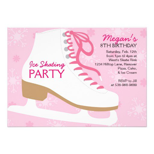 Skating Party Invitation Free Templates