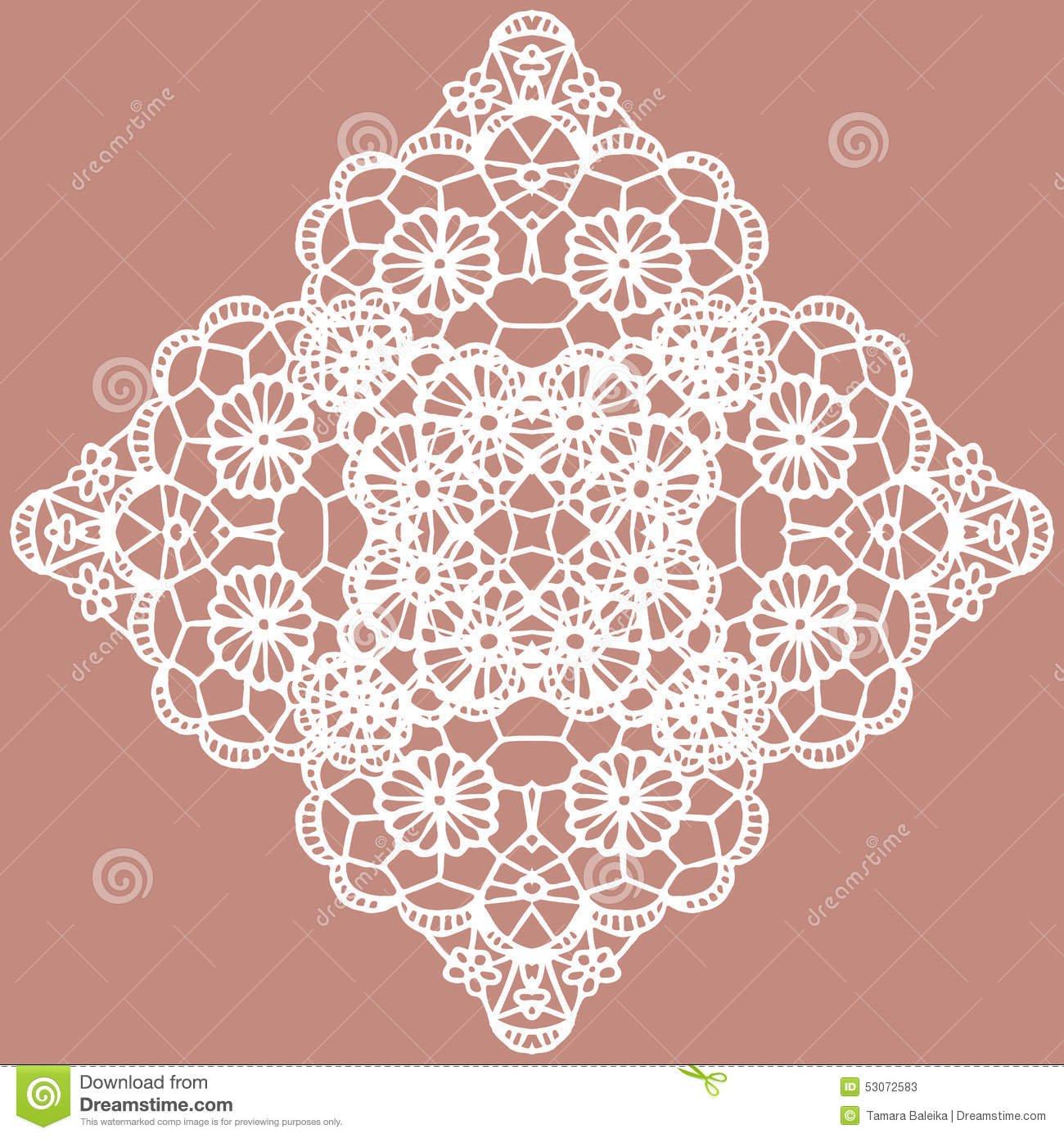 Snowflake Invitation Template Vector