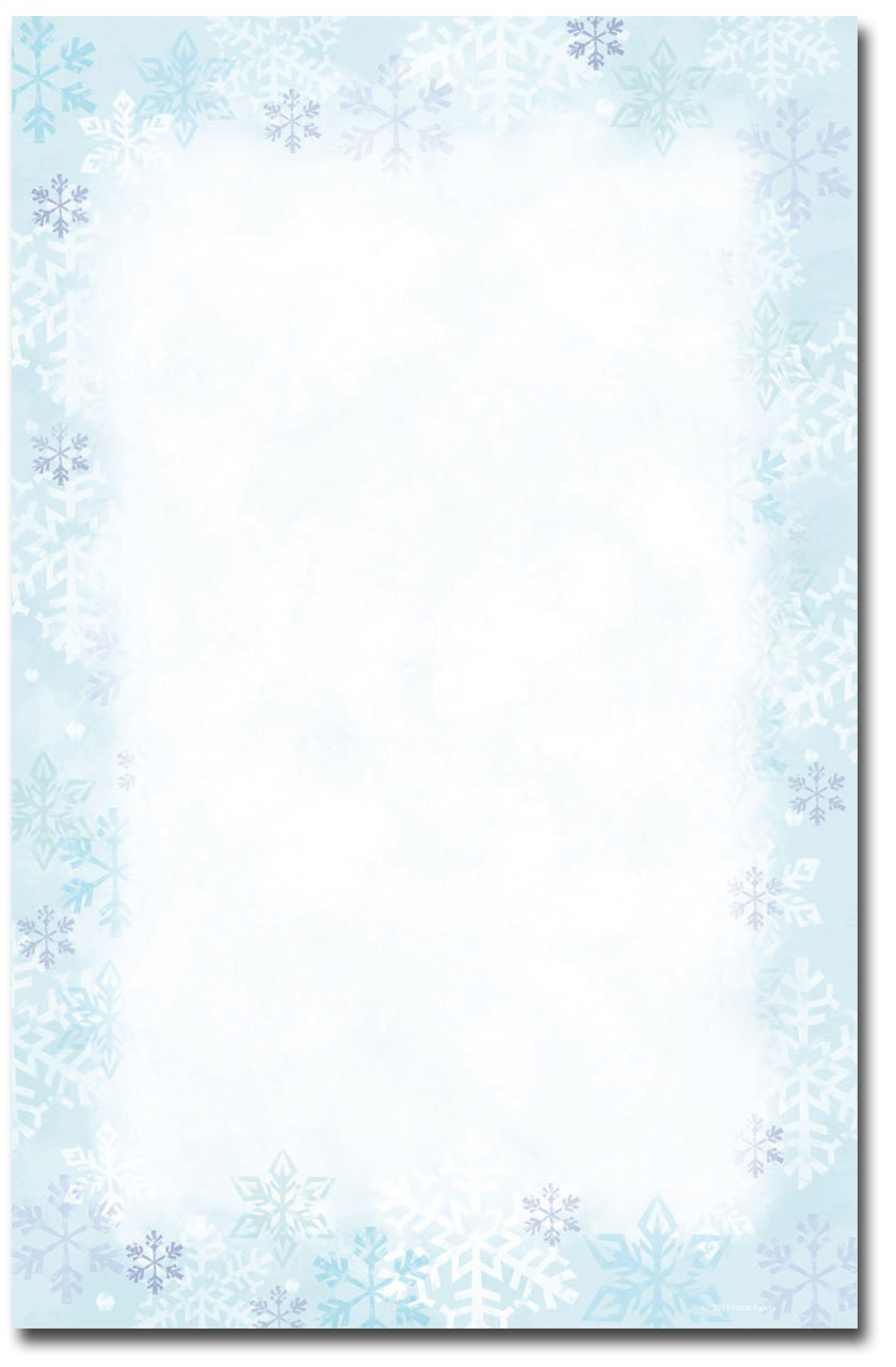 Snowflake Invitation Templates Blank
