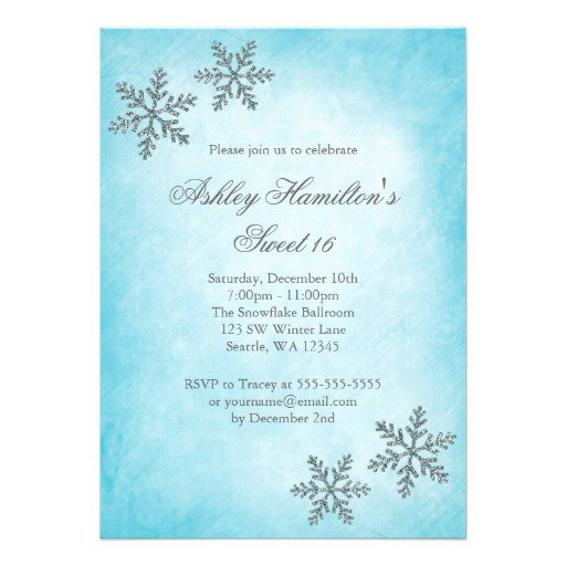 Snowflake Invitations Templates