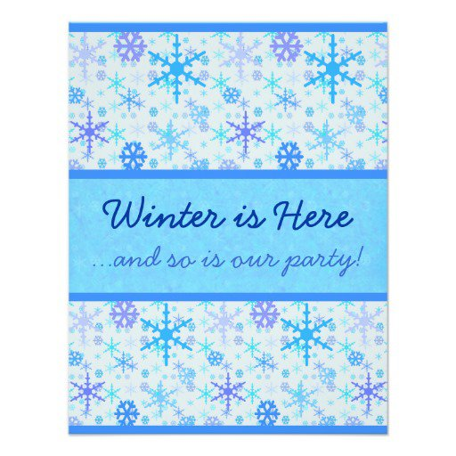 Party Invitations – Snowflake Party Invitations