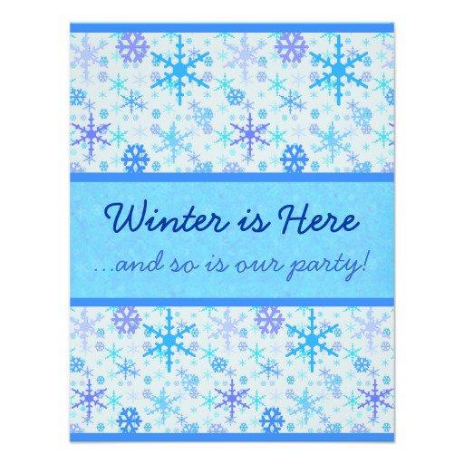 Snowflake Party Invitations