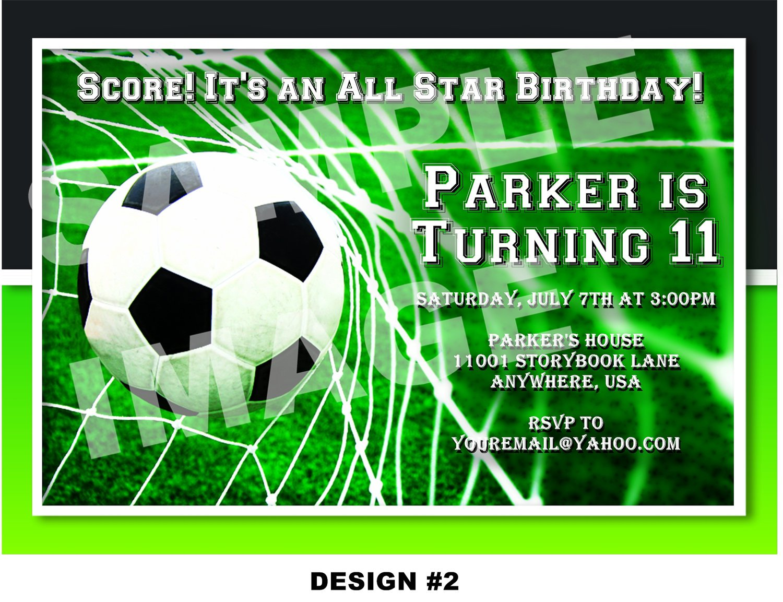 Soccer Birthday Invitations Templates Free