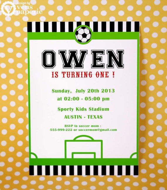 Soccer Birthday Invitations Wording