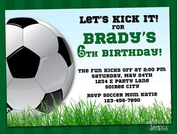 Soccer Birthday Party Invitations Free Printable