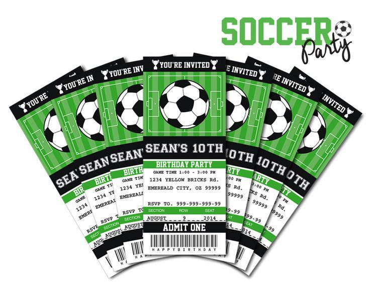 Soccer Invitation Templates