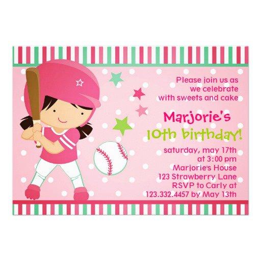 Softball Birthday Invitation Ideas