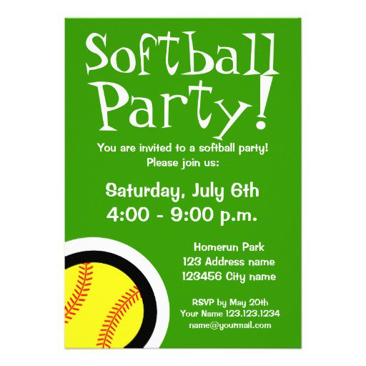 Softball Invitation Templates