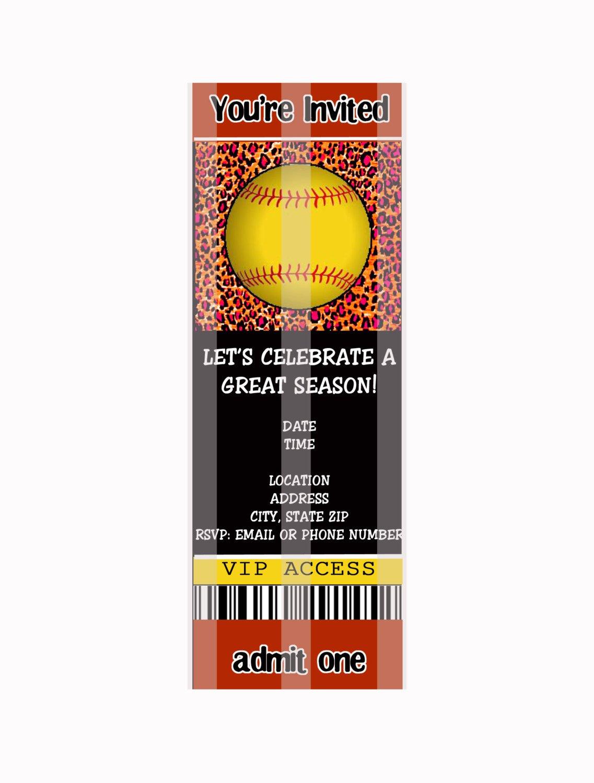 softball party invitations