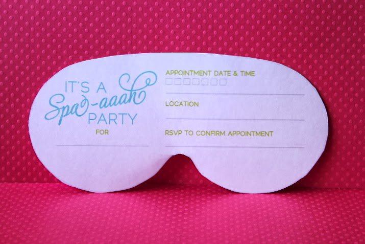 Spa Mask Invitation Printable
