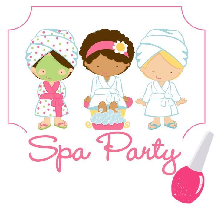 Spa Party Clip Art