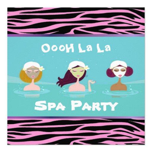 Spa Slumber Party Invitations Zazzle
