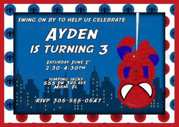 Spider-man Birthday Party Invitation Printable