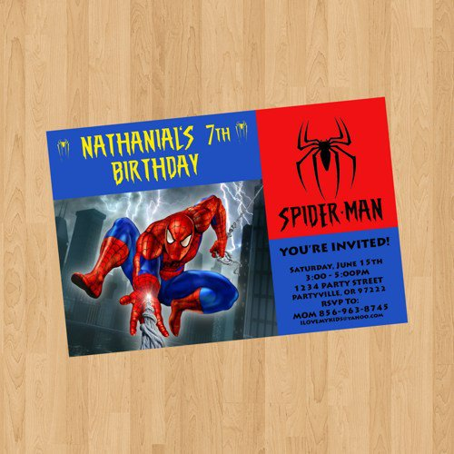 Spider-man Invitations