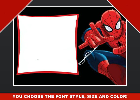 Spider-man Invitations Editable