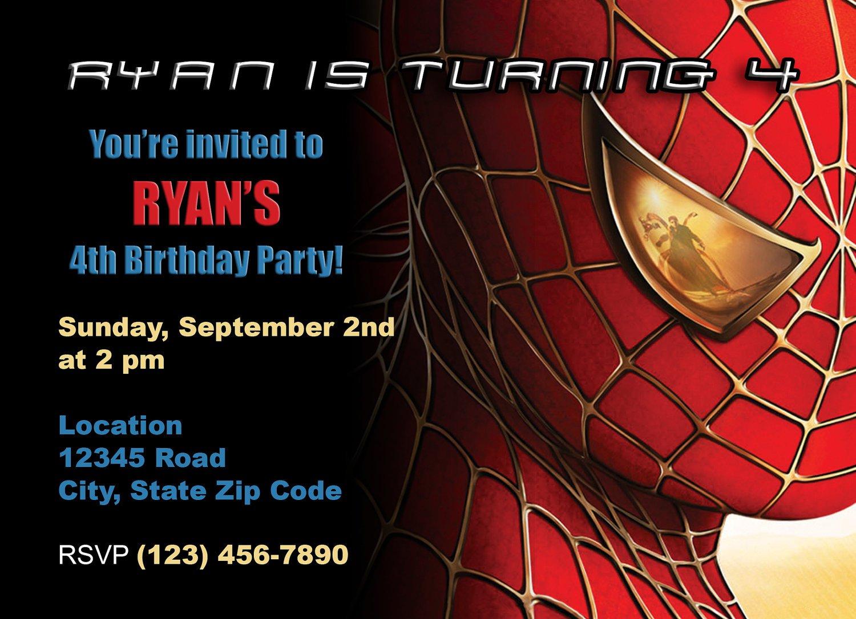 Spider-man Invitations Templates